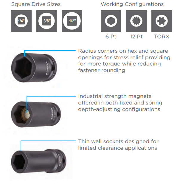 EOASAW Impact Sockets Vega Industries